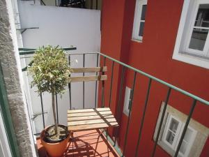 Uma varanda ou terraço em LX 77