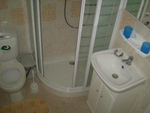 Koupelna v ubytování Chata Bešeňová