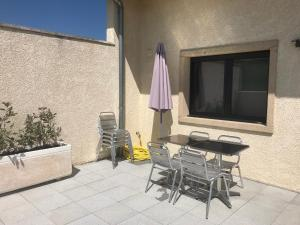 A porch or other outdoor area at Gites Des Sablons