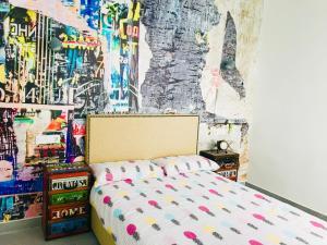 A bed or beds in a room at Apartamentos La Palma