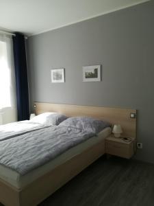 Postel nebo postele na pokoji v ubytování Zatloukalova 295