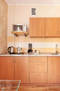 A kitchen or kitchenette at Apartment on Tomskaya 6