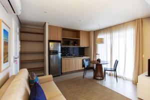 Köök või kööginurk majutusasutuses Residencial Estanconfor Santos