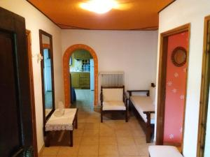 A seating area at Proia's Guesthouse 7km from Meteora!At village VLACHAVA
