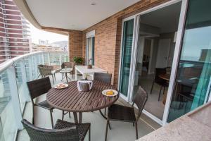 Uma varanda ou terraço em Residencial Estanconfor Santos