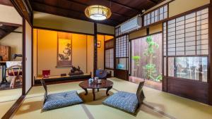 A seating area at Inari Ohan