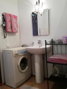 A bathroom at Apartment near Ski Centre Metallurg