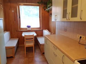 Virtuvė arba virtuvėlė apgyvendinimo įstaigoje Agnės apartamentas