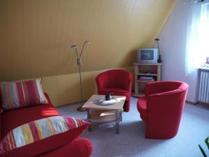 Część wypoczynkowa w obiekcie Ferienwohnungen Stoldt