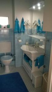 A bathroom at Wohnuñg Seestern