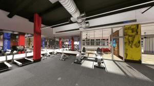 The fitness center and/or fitness facilities at WhyHotel Baltimore Luxe Suites Inner Harbor