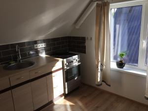 Köök või kööginurk majutusasutuses Tulbituba