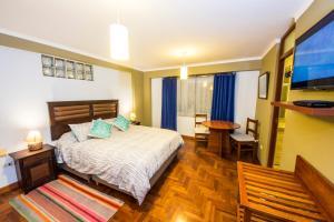 Cama o camas de una habitación en Departamento Inti