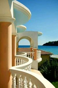 A balcony or terrace at Marathon Studios & Apartments