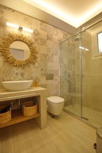 Ett badrum på Pansion Nina