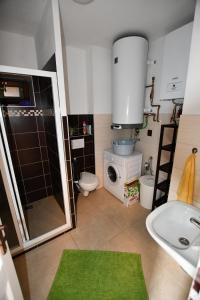 Koupelna v ubytování Chalupa Chlum Jiřík
