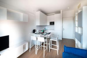 A kitchen or kitchenette at Viale Severino Boezio 20