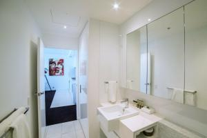 A bathroom at The Sebel Melbourne Docklands
