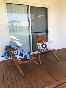 A balcony or terrace at Moso Island Luxury Retreat
