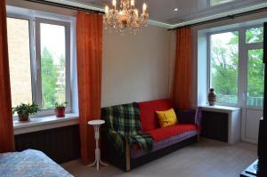 Гостиная зона в Apartment on Prospekt Lenina 10
