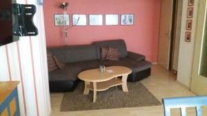 Ein Sitzbereich in der Unterkunft Ferienhaus Altstadt