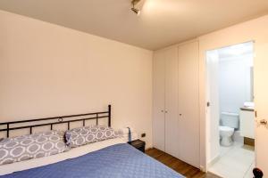 Cama o camas de una habitación en Apart en Chile Santa Ana