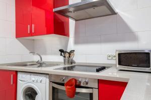 Cuisine ou kitchenette dans l'établissement Apartamento Maribel