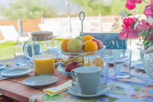 Επιλογές πρωινού για τους επισκέπτες του Zante Suites