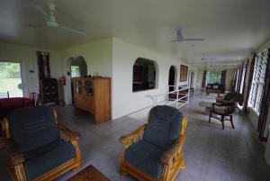 A seating area at Samoan Highland Hideaway