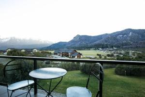Una imagen general de la montaña o una montaña tomada desde el departamento