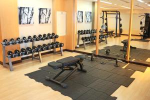 The fitness center and/or fitness facilities at BSA Twin Towers