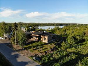 A bird's-eye view of Aurora Studio Överby