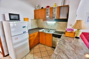 A kitchen or kitchenette at Apartments Riki