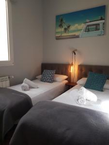 Ein Bett oder Betten in einem Zimmer der Unterkunft Casa Ortega y Gasset VT-6393