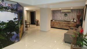 The lobby or reception area at Beira Mar em Manaíra