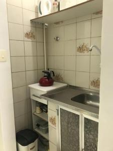 A kitchen or kitchenette at Copa apt°/ 1Qd da Praia bela vista