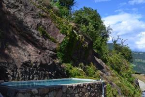 Der Swimmingpool an oder in der Nähe von Ferienwohnung Unterkofler