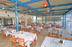 Ein Restaurant oder anderes Speiselokal in der Unterkunft LEVANTE Studios