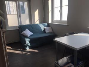 Een zitgedeelte bij Charmant studio
