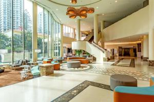 The lobby or reception area at Seasun Legends Hotel