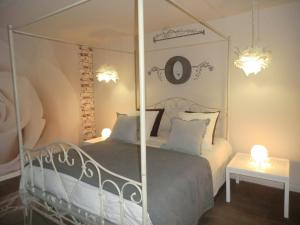 Кровать или кровати в номере Givernel