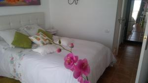 A bed or beds in a room at La casita ´´Ma petite Folie´´