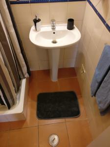 A bathroom at Casas do Megué