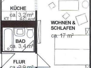 Grundriss der Unterkunft Apartment Hagen Nähe TU Altstadt
