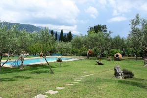 The swimming pool at or near Olive Áno Korakiána
