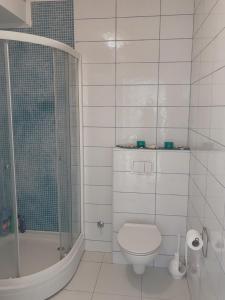 A bathroom at Blue apartment Magnolia