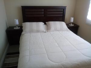 Cama o camas de una habitación en Departamento Amoblado Puerto Montt