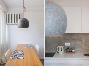Кухня или мини-кухня в Apartament w sercu miasta