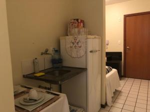 A kitchen or kitchenette at Flat´s Brasília