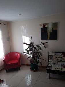 A seating area at Departamentos Alejandro